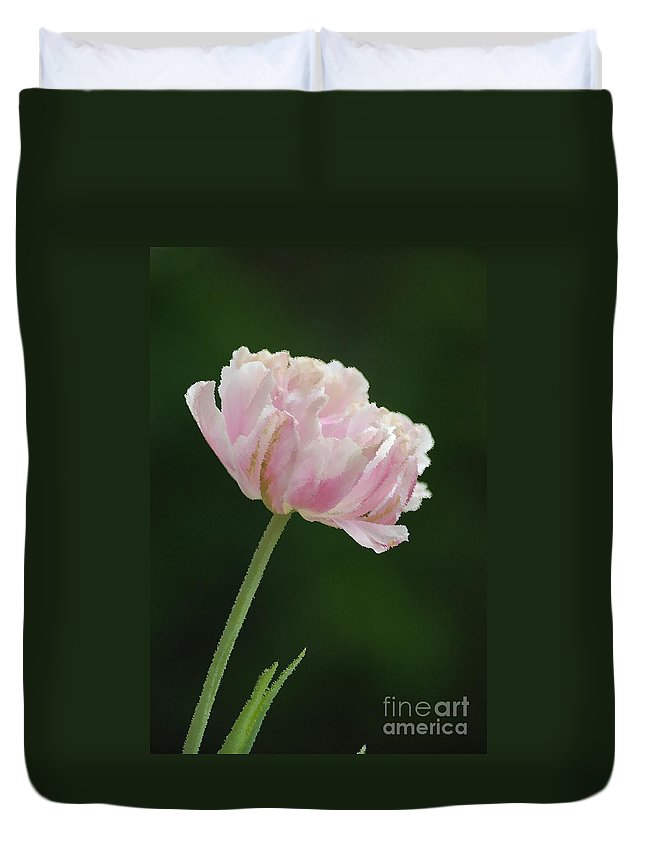 Tulip Duvet Cover featuring the photograph Tulip by Donna Bentley