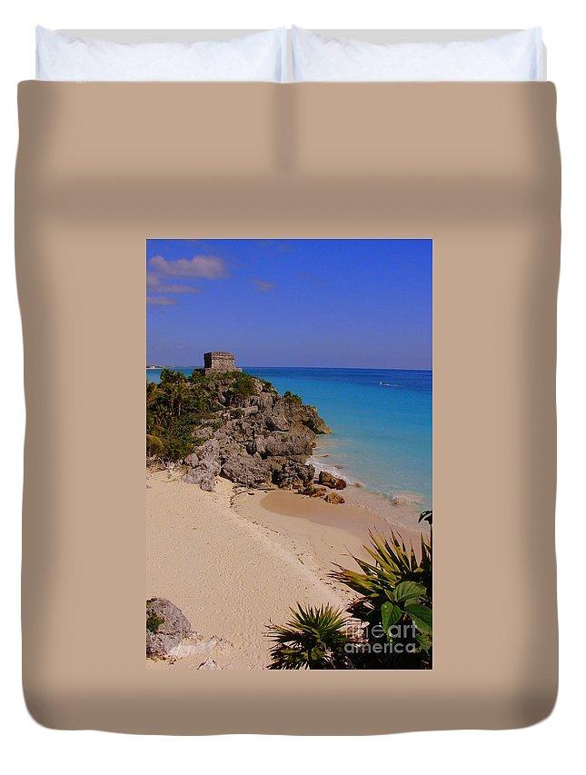 Tulum Duvet Cover featuring the photograph Tulum by Priscilla Richardson