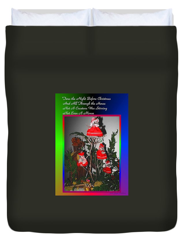 Card Duvet Cover featuring the photograph Twas The Night Before Christmas by Joyce Dickens