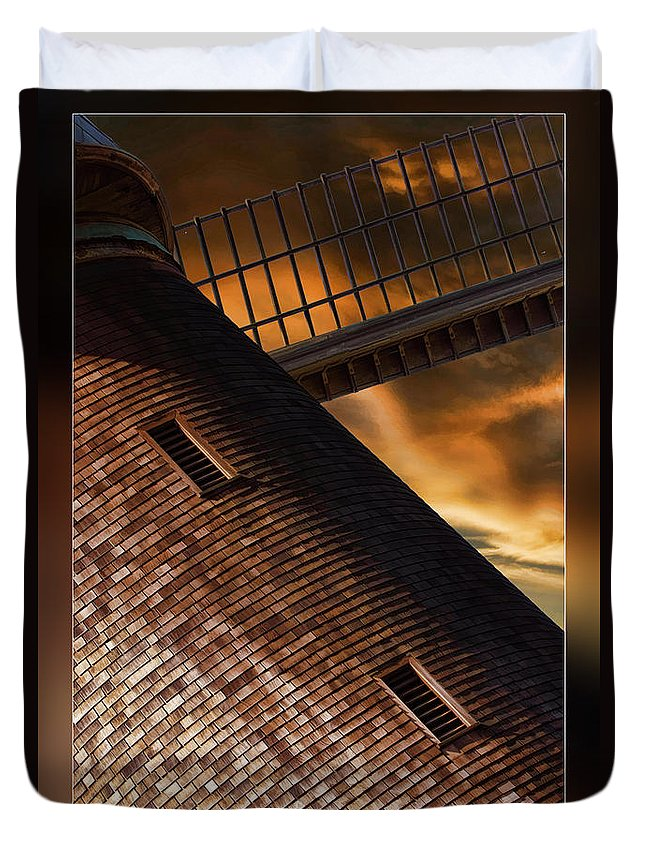 Art Photography Duvet Cover featuring the photograph Two Window Mill by Blake Richards