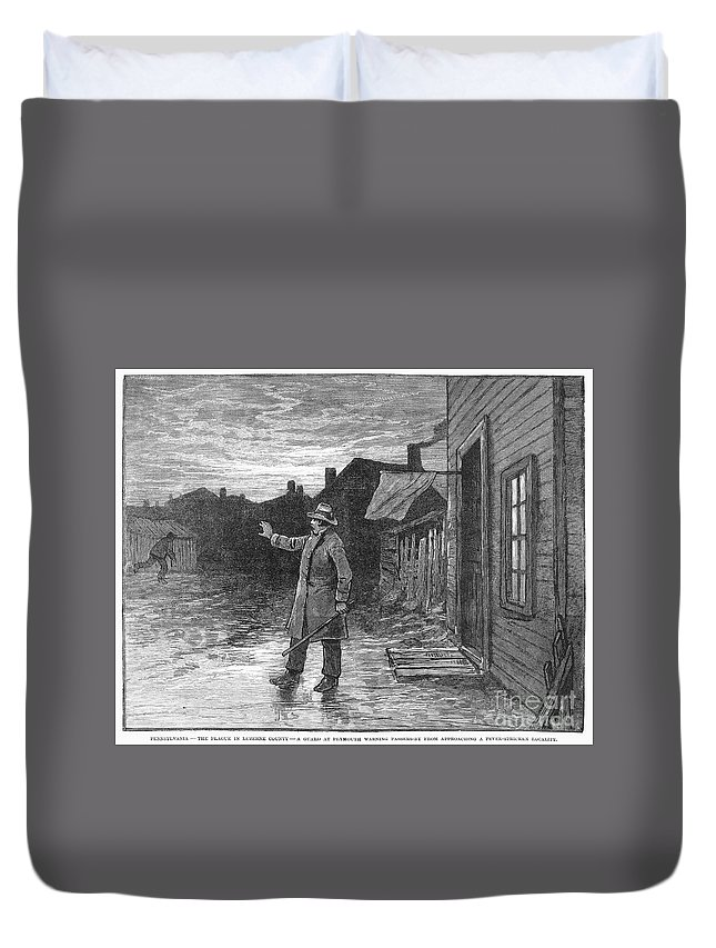 1885 Duvet Cover featuring the photograph Typhoid Fever, 1885 by Granger