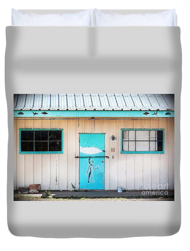 2012 Duvet Cover featuring the photograph Ufo House by Matt Suess