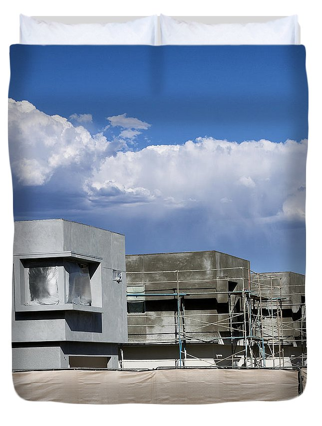 Morrison Duvet Cover featuring the photograph Under Construction Palm Springs by William Dey