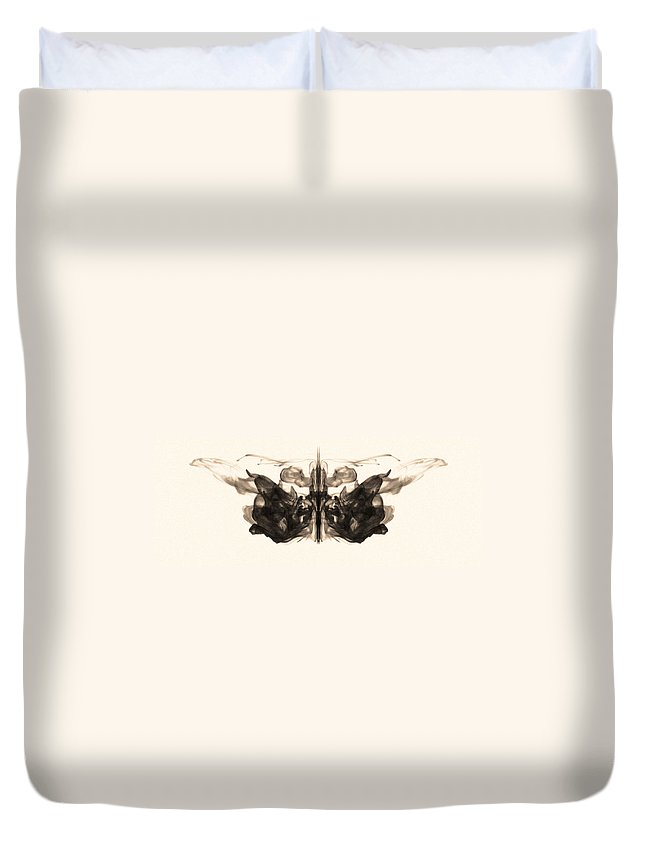 Abstract Duvet Cover featuring the photograph Underwater Butterfly by Sumit Mehndiratta