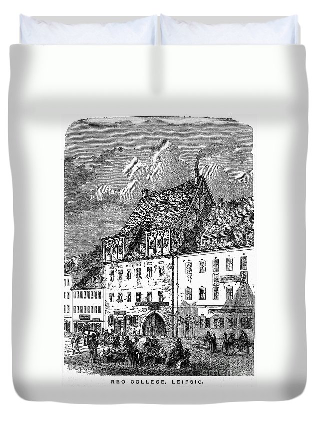 19th Century Duvet Cover featuring the photograph University Of Leipzig by Granger