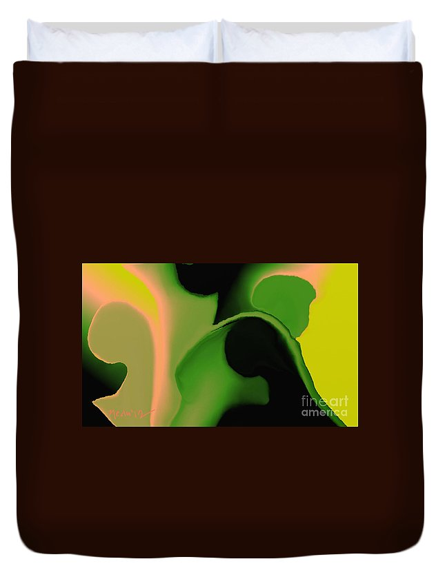 Paintings Duvet Cover featuring the painting Untitled 205 by Nedunseralathan R