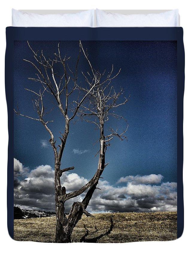 Blue Sky Duvet Cover featuring the photograph Untitled by Priscilla De Mesa