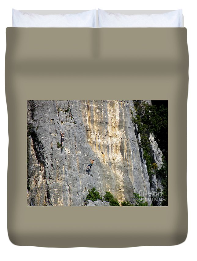 Mountain Climbing Duvet Cover featuring the photograph Up And Down by Lainie Wrightson