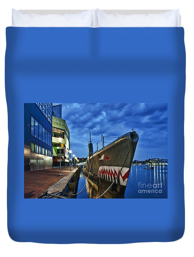 Baltimore Duvet Cover featuring the photograph Uss Torsk Submarine Memorial by John Greim