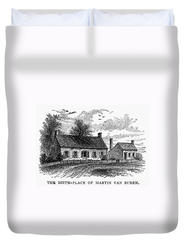 1782 Duvet Cover featuring the photograph Van Buren: Birthplace by Granger