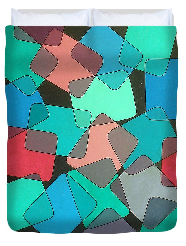 Australian Duvet Cover featuring the painting Variations 1 by Giro Tavitian