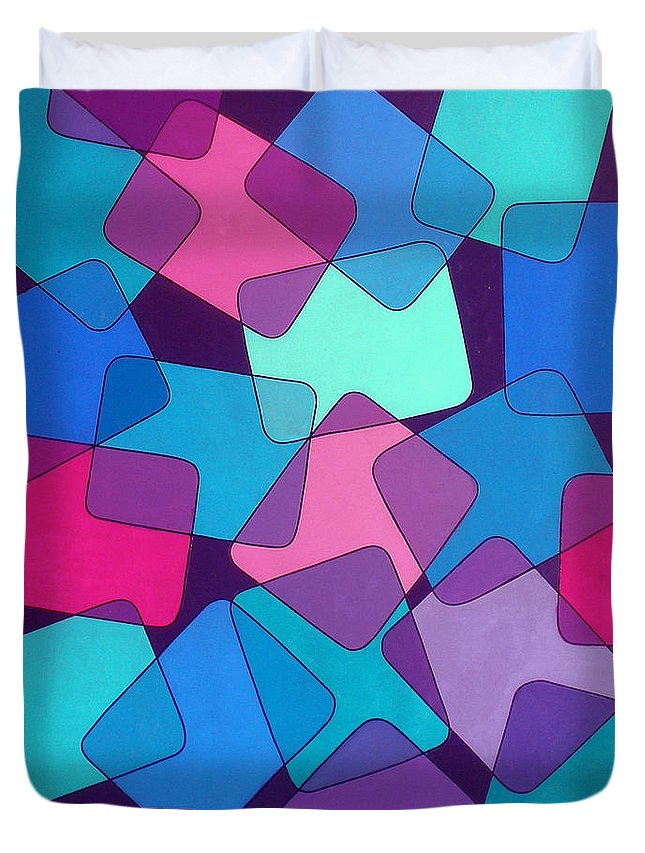 Australian Duvet Cover featuring the painting Variations 6 by Giro Tavitian