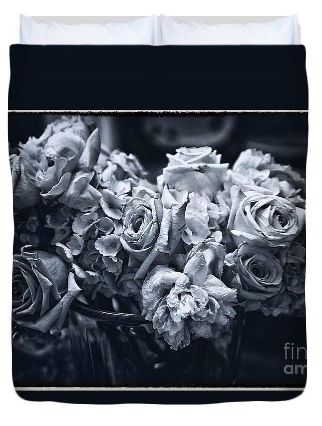 Flowers Duvet Cover featuring the photograph Vase Of Flowers 2 by Madeline Ellis