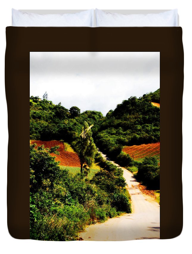 Way Duvet Cover featuring the photograph Venezuelan Way by Galeria Trompiz