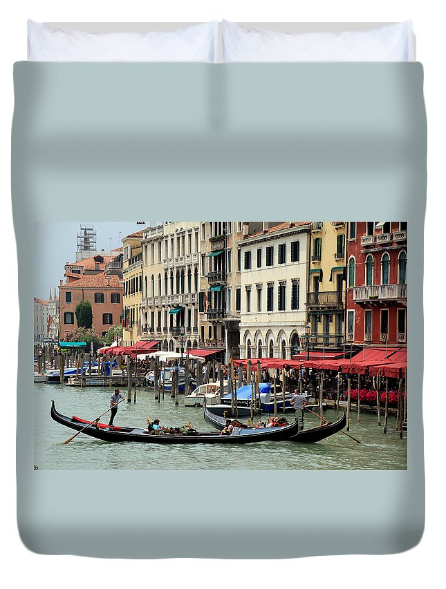Venice Duvet Cover featuring the photograph Venice Grand Canal 2 by Andrew Fare