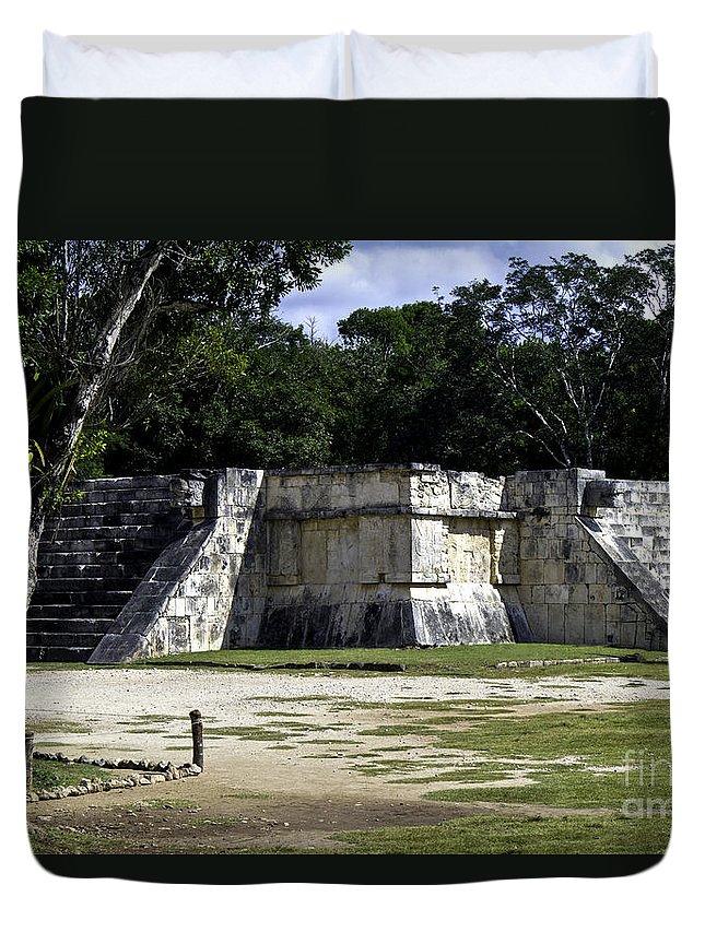Chichen Itza Duvet Cover featuring the photograph Venus Platform by Ken Frischkorn