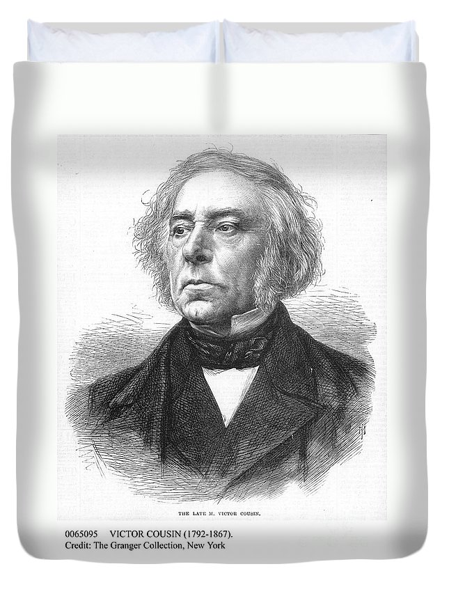 19th Century Duvet Cover featuring the photograph Victor Cousin (1792-1867) by Granger