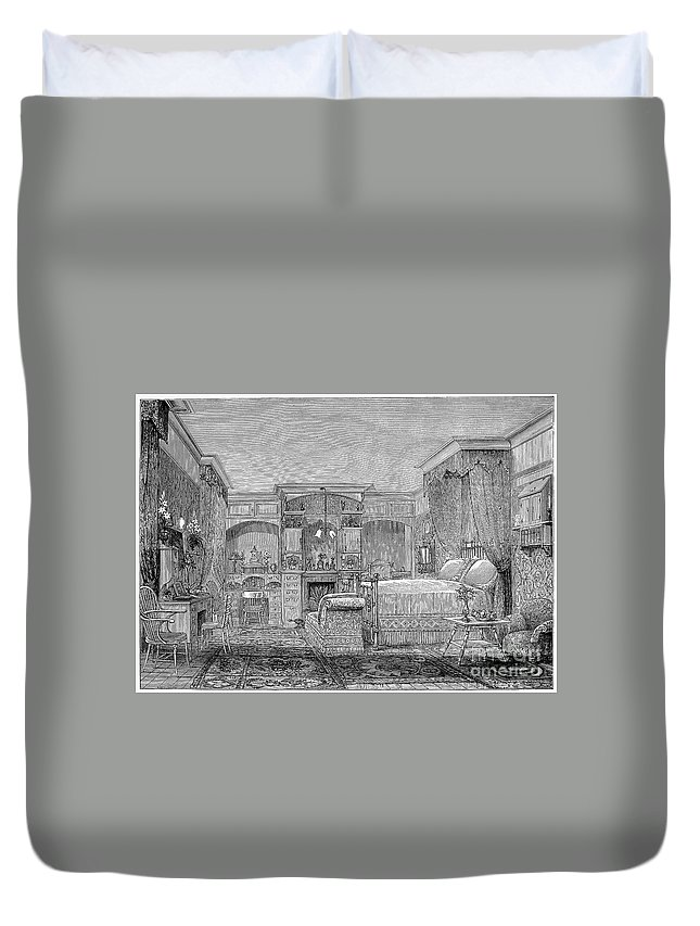 1884 Duvet Cover featuring the photograph Victorian Bedroom, 1884 by Granger
