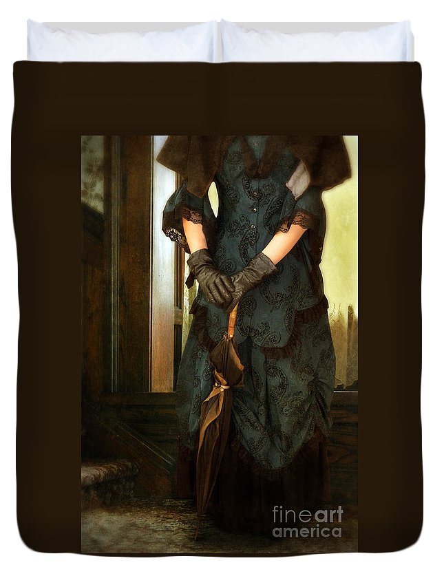 Lady Duvet Cover featuring the photograph Victorian Lady by Jill Battaglia