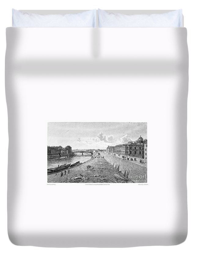 1821 Duvet Cover featuring the photograph Vienna: Danube, 1821 by Granger