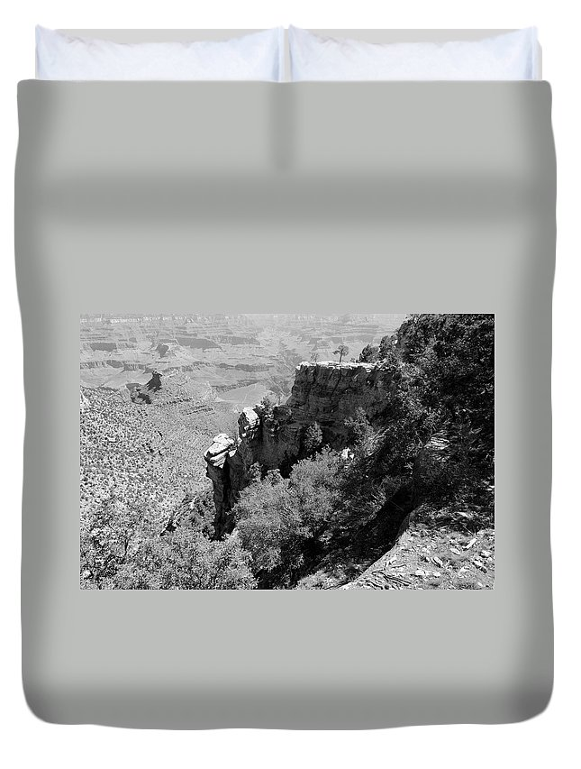 Tree Duvet Cover featuring the photograph View From Grand Canyon Village by Julie Niemela