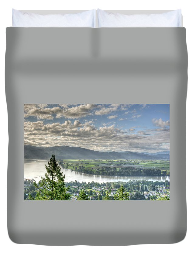 Beautiful Bc Duvet Cover featuring the photograph View From The Abby by Rod Wiens