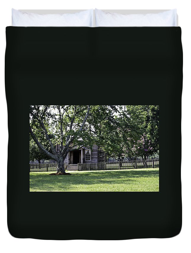 Appomattox Duvet Cover featuring the photograph View Of Jones Law Offices Appomattox Virginia by Teresa Mucha