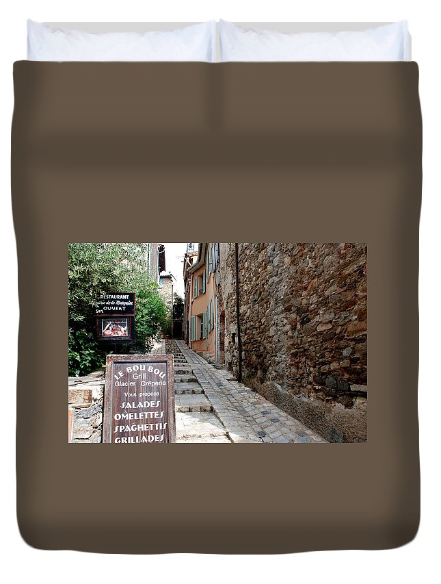 Provence Duvet Cover featuring the photograph Village Alley by Dany Lison