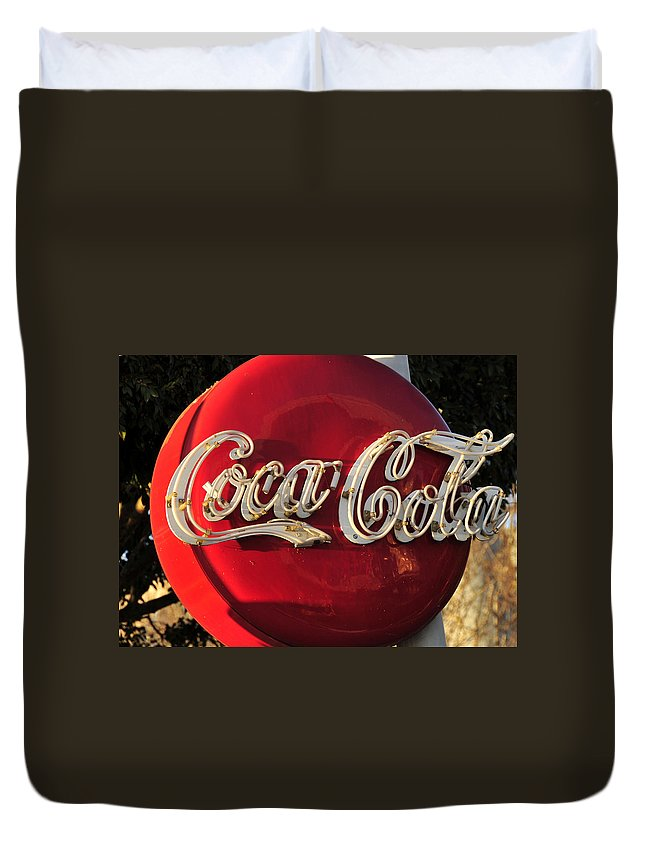 Fine Art Photography Duvet Cover featuring the photograph Vintage Coke by David Lee Thompson