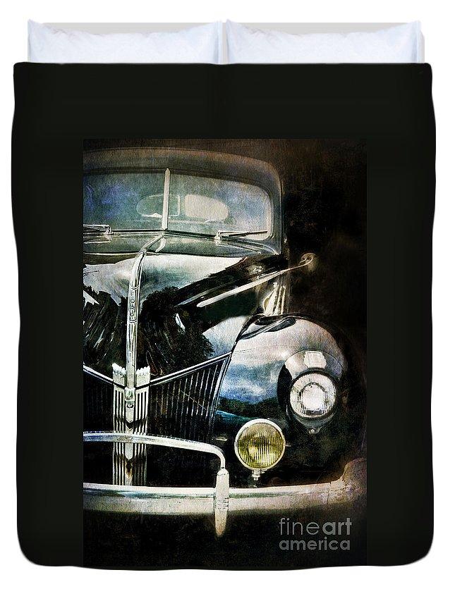 Car Duvet Cover featuring the photograph Vintage Ford by Jill Battaglia