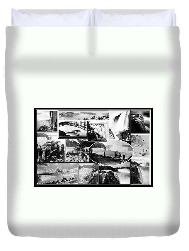 Waterfall Duvet Cover featuring the photograph Vintage Niagara Falls by Andrew Fare