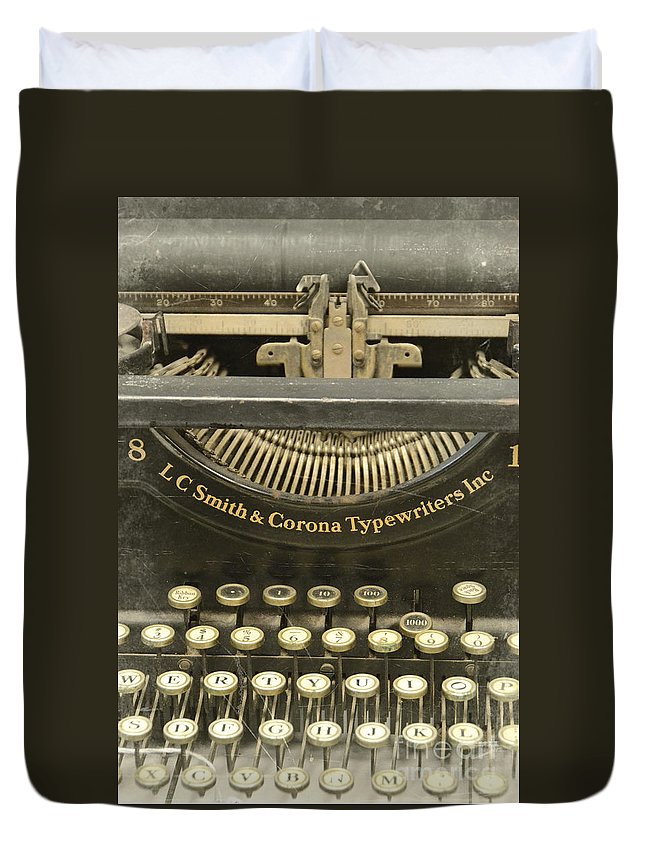Type Duvet Cover featuring the photograph Vintage Typewriter by Jill Battaglia