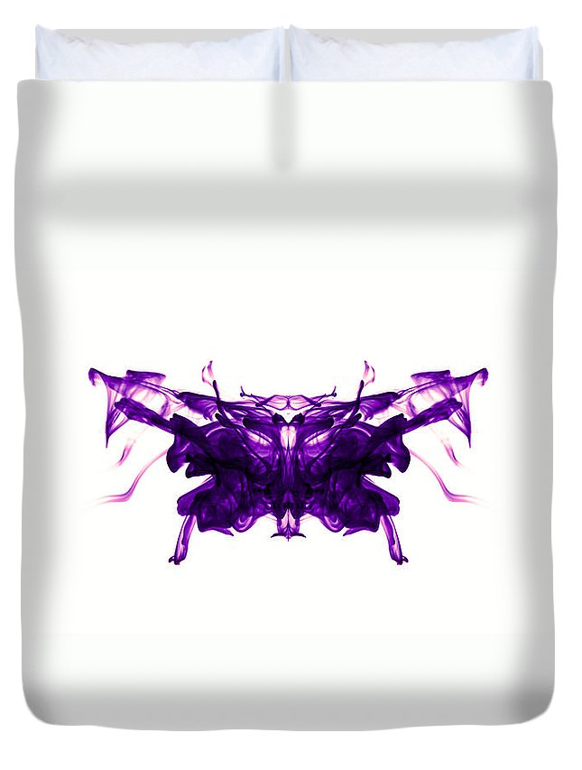 Ink Duvet Cover featuring the photograph Violet Abstract Butterfly by Sumit Mehndiratta