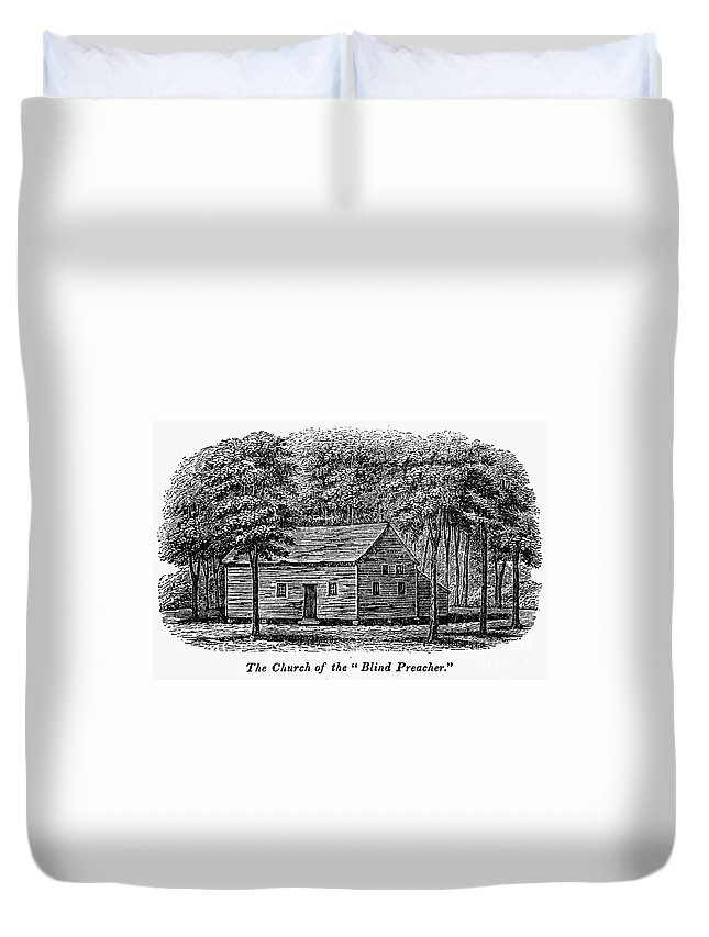 1856 Duvet Cover featuring the photograph Virginia: Church by Granger