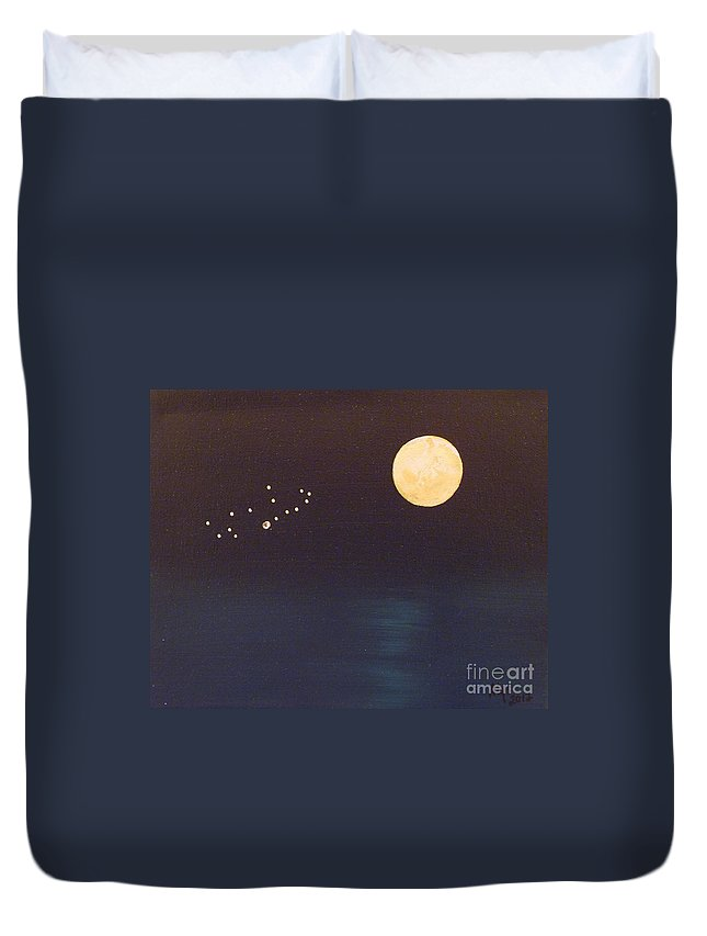 Virgo Duvet Cover featuring the painting Virgo by Alys Caviness-Gober