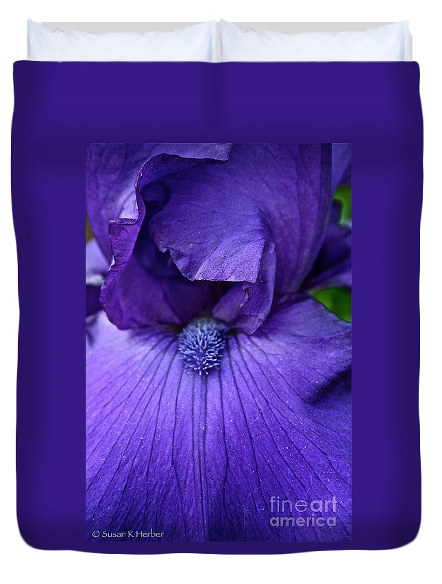 Plant Duvet Cover featuring the photograph Vision In Violet by Susan Herber