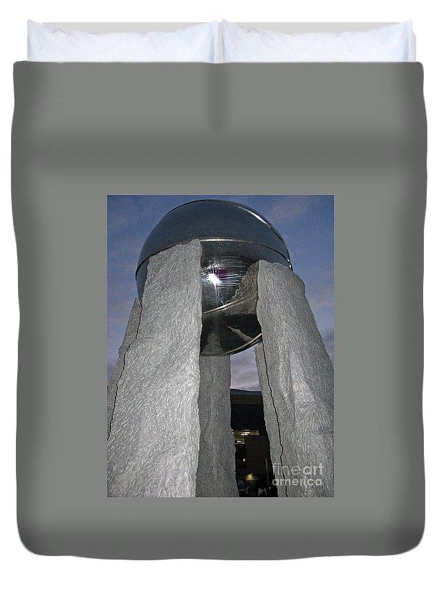 Monument Duvet Cover featuring the photograph Vivat Basketball by Ausra Huntington nee Paulauskaite