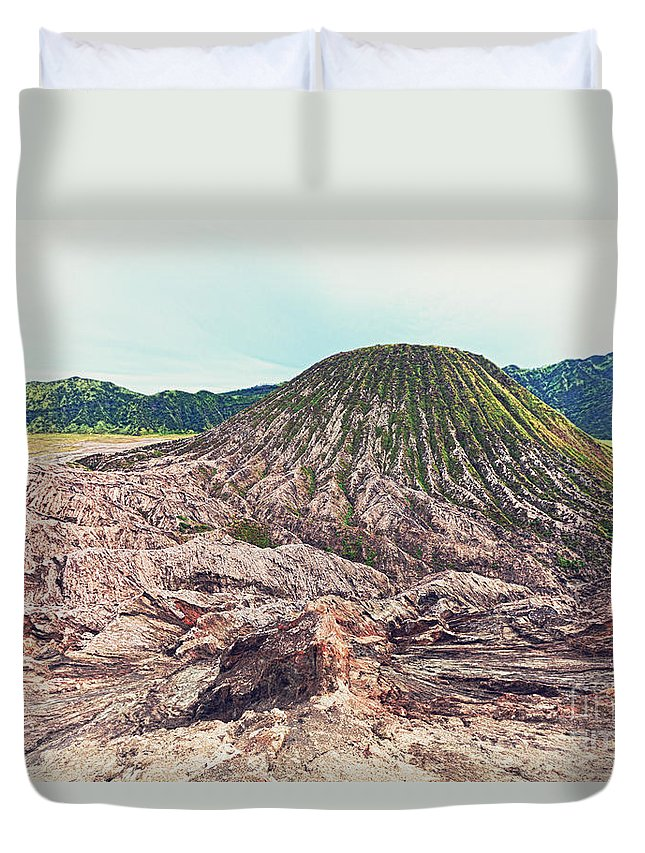 Batok Duvet Cover featuring the photograph Volcano by MotHaiBaPhoto Prints