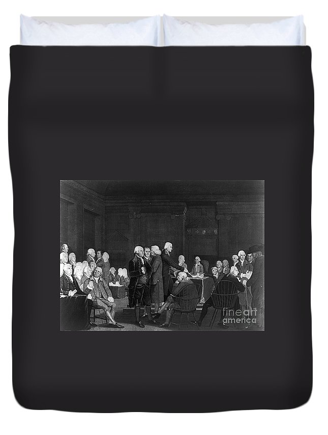 1776 Duvet Cover featuring the photograph Voting Independence, 1776 by Granger