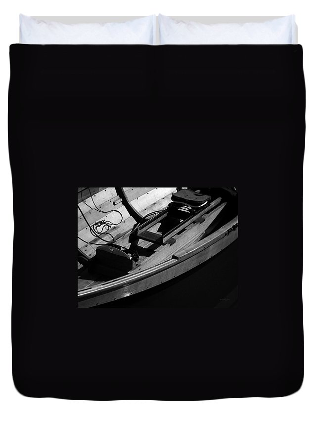 Boats Duvet Cover featuring the photograph Voyage I by Xueling Zou