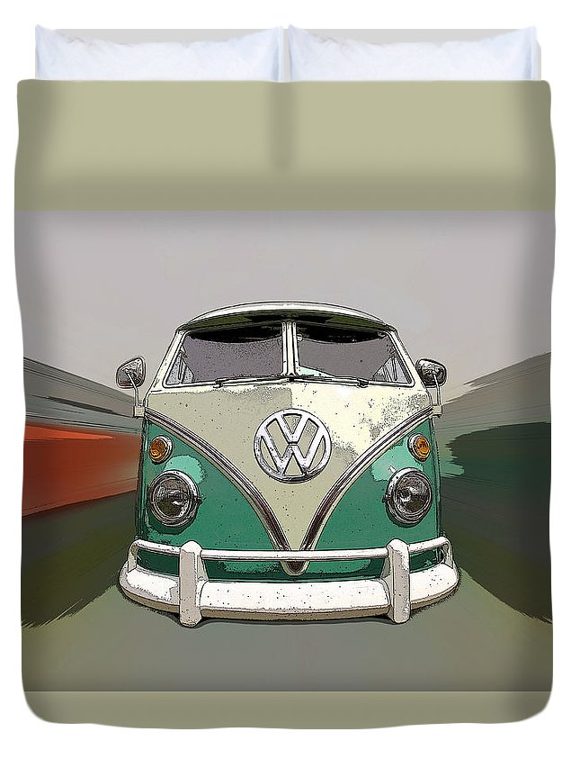 Vw Duvet Cover featuring the photograph Vw Bus Art by Steve McKinzie