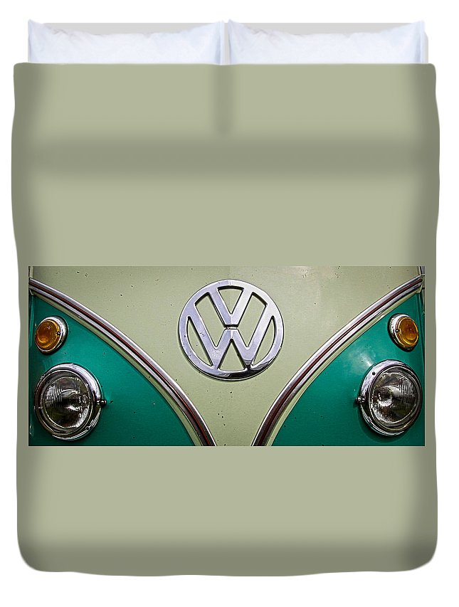 Volkswagen Duvet Cover featuring the photograph Vw Van by Steve McKinzie