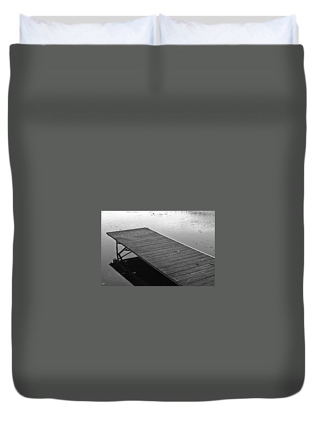 Autumn Duvet Cover featuring the photograph Waiting For Summer by David Rucker