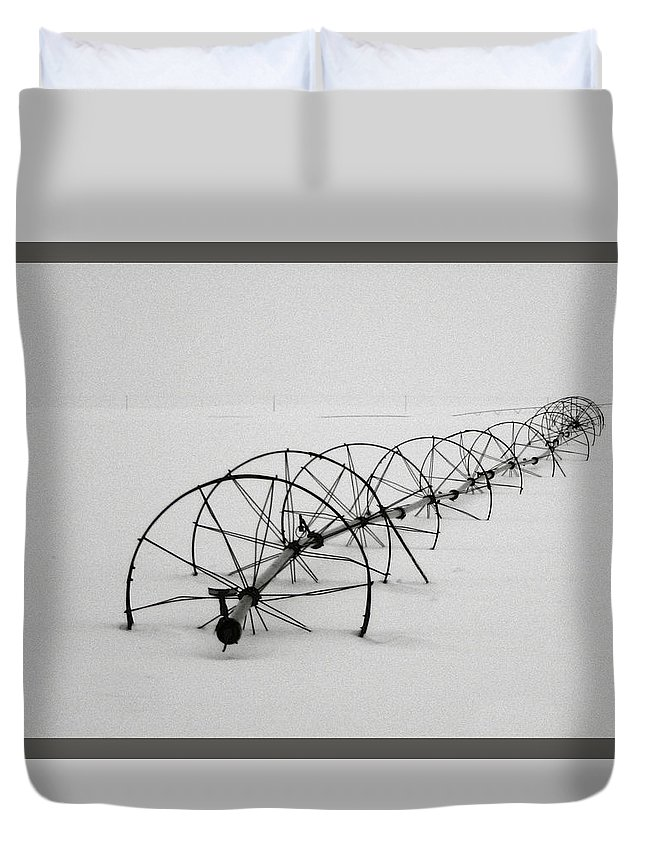 Waiting For Summer Duvet Cover featuring the photograph Waiting For Summer by Wes and Dotty Weber