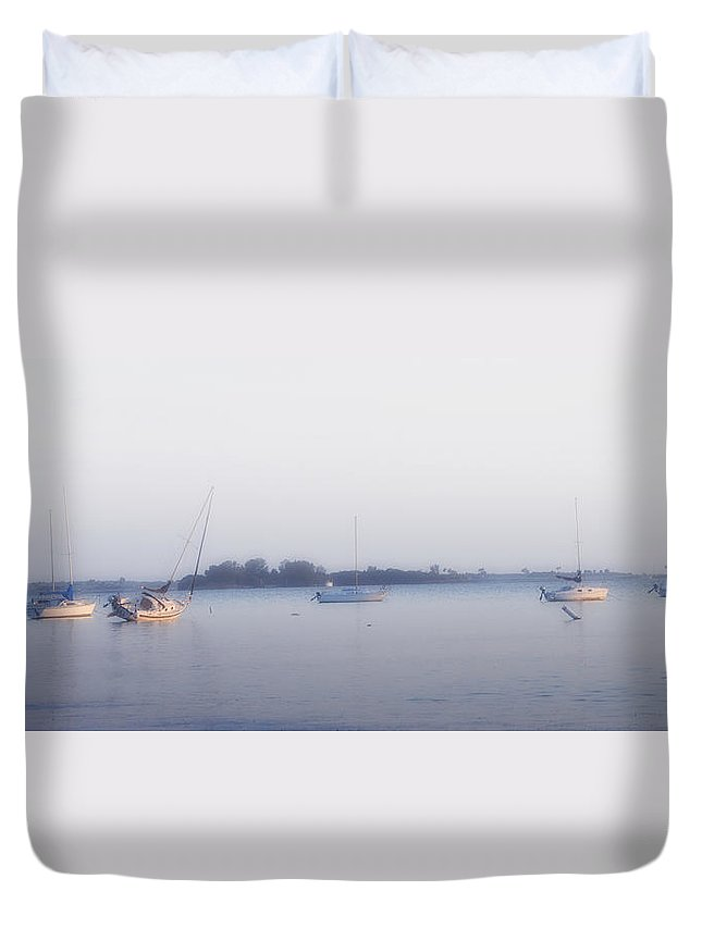 Waiting On The Tide Duvet Cover featuring the photograph Waiting On The Tide by Bill Cannon