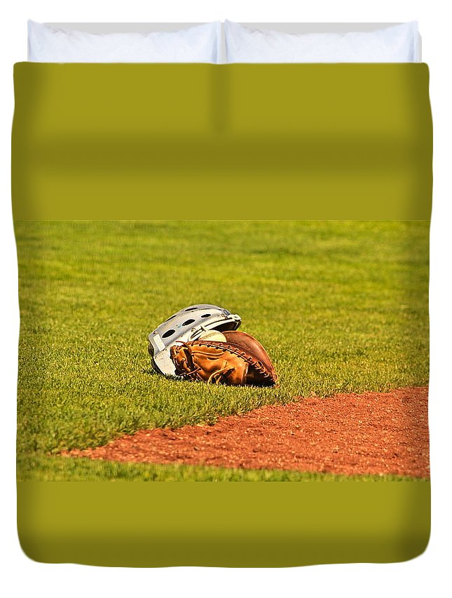 Ball Duvet Cover featuring the photograph Waiting To Be Used by Laddie Halupa