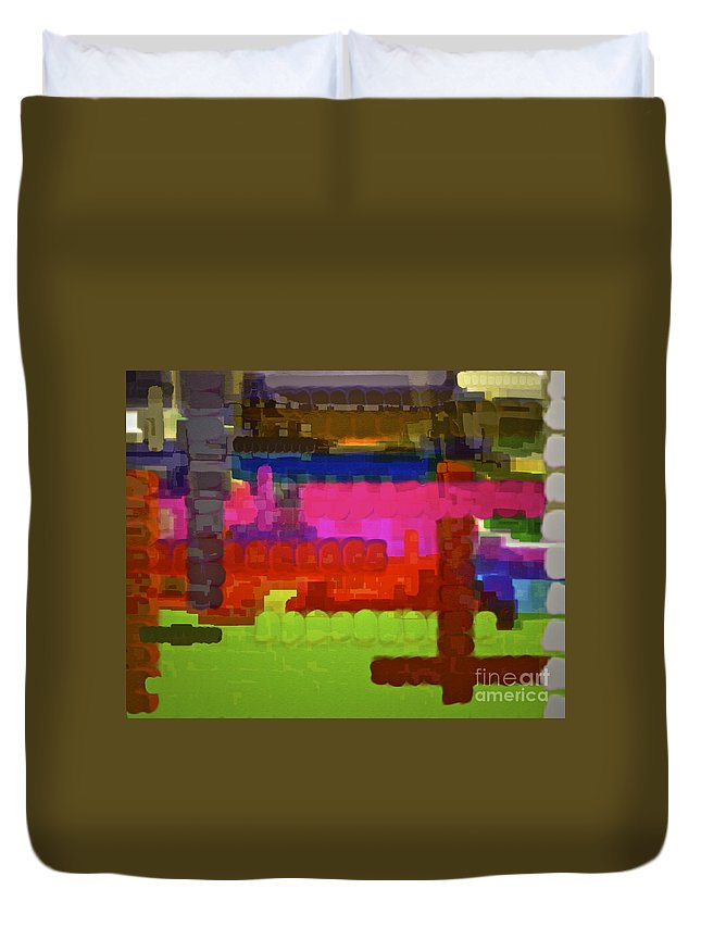 Colorful Abstract Duvet Cover featuring the photograph Wake Up And Live by Gwyn Newcombe