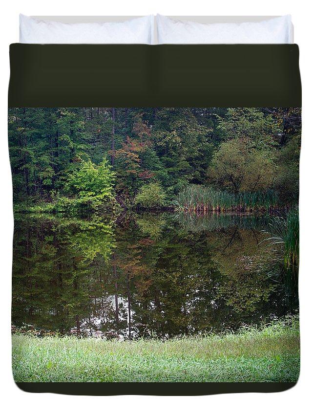 Pond Duvet Cover featuring the photograph Walden Pond 1 by Douglas Barnett