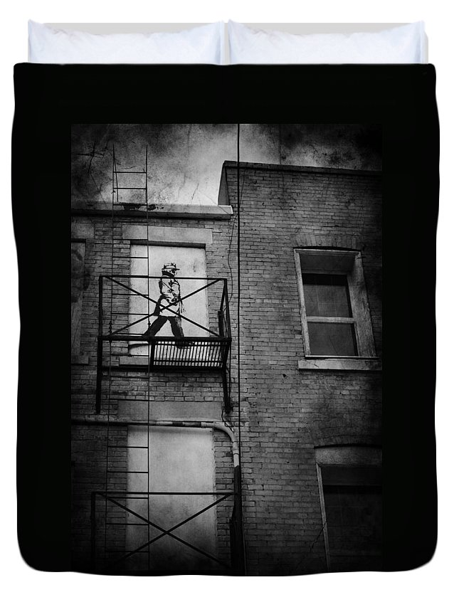 Jerry Cordeiro Duvet Cover featuring the photograph Walk On White by The Artist Project
