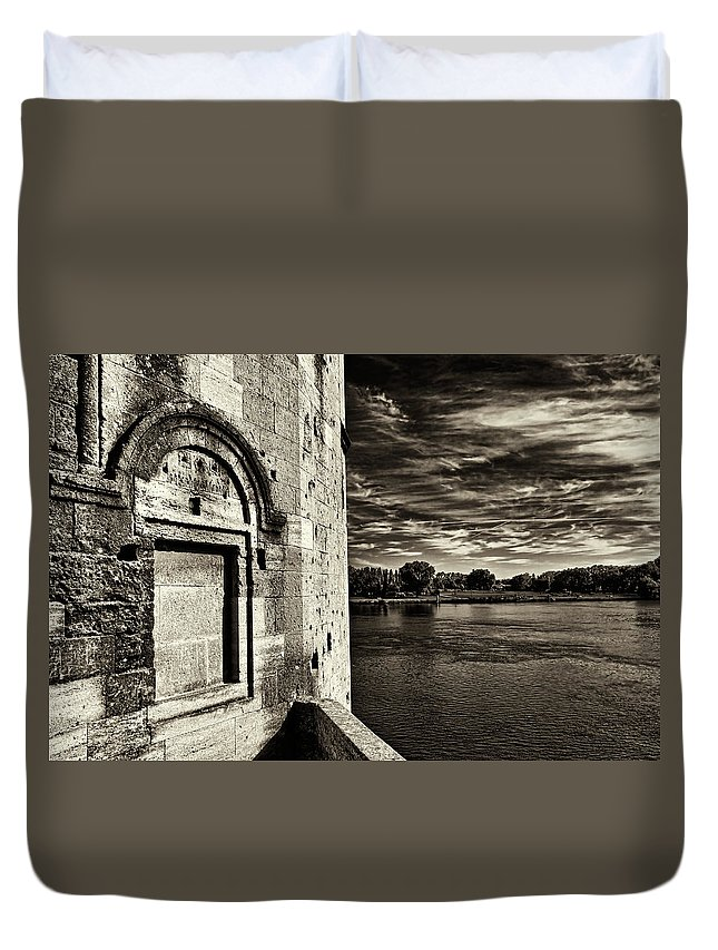 Avignone Duvet Cover featuring the photograph Walled-up Window by Roberto Pagani